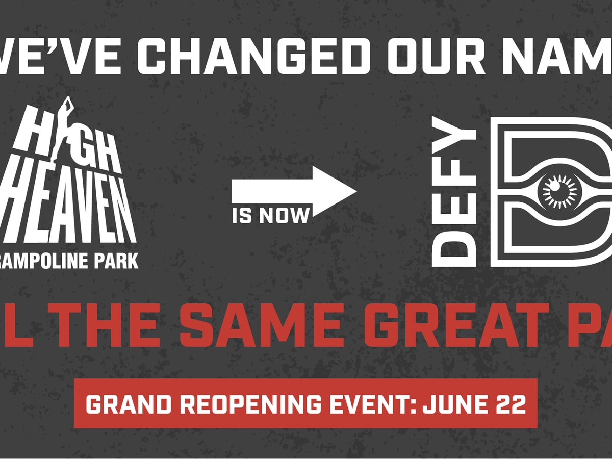 High Heaven trampoline park re-opening event