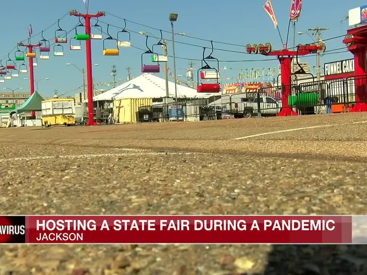 Vendors prepare to open for Mississippi State Fair