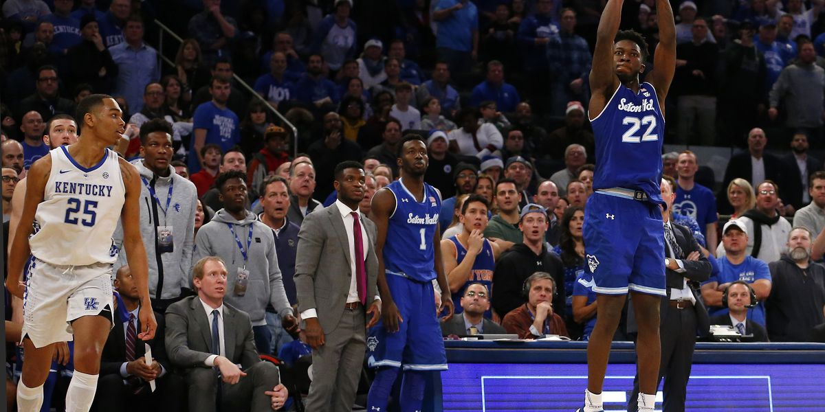 Seton Hall overcomes half-court shot to stun No. 9 Kentucky