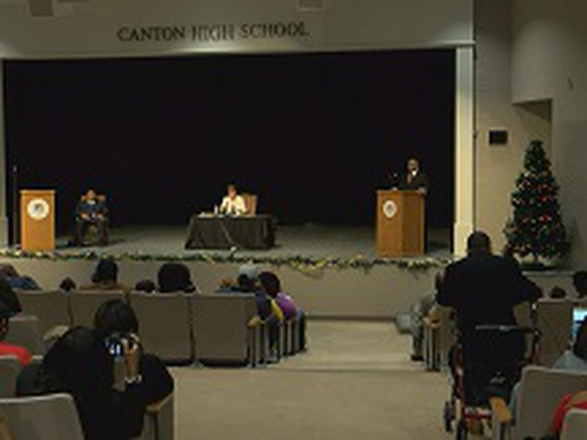 The two finalists for Canton Superintendent answer questions at public forum