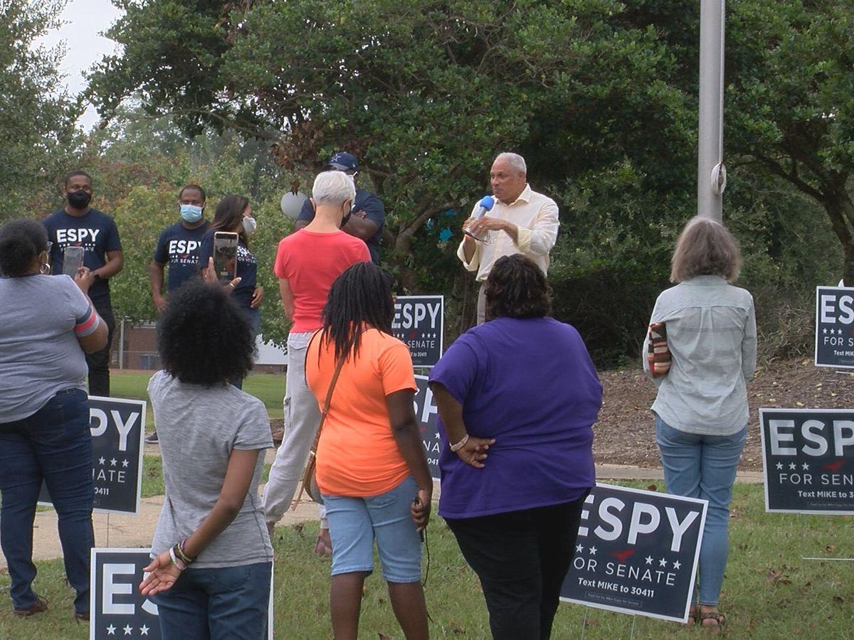 Senate candidate Mike Espy makes campaign stops in Hattiesburg, Laurel