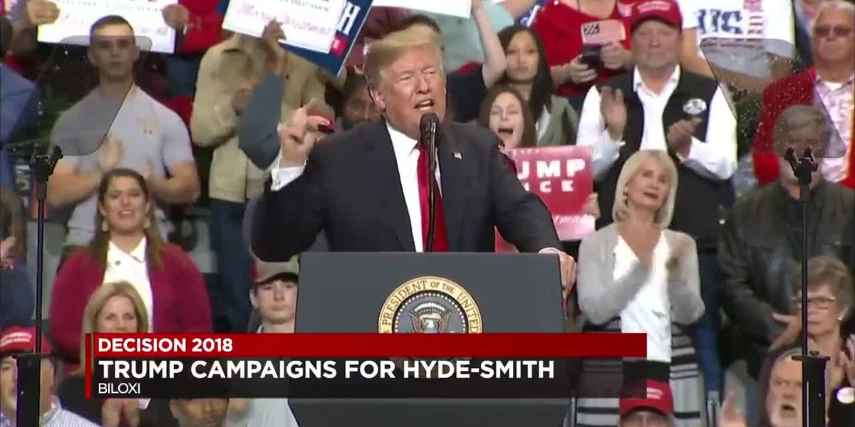 President Trump rallies support for Cindy Hyde-Smith ahead of U.S. Senate runoff - Biloxi