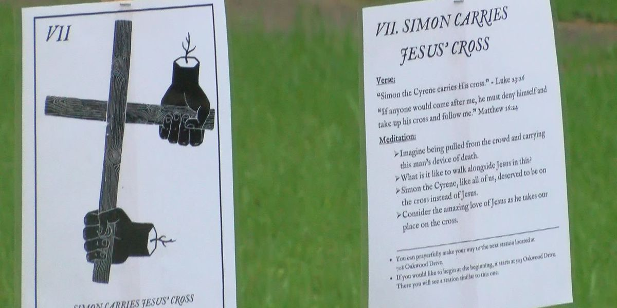 Clinton community celebrates Holy Week with 'Stations of the Cross' trail