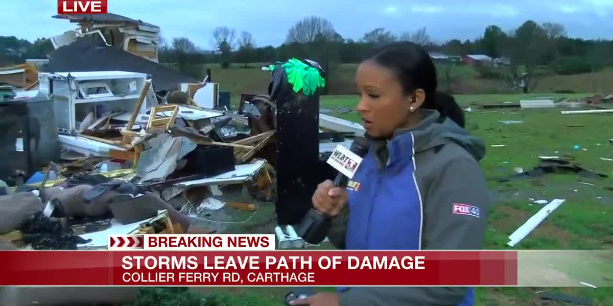 Carthage couple leaves mobile home minutes before it's destroyed by storm