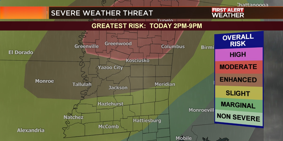 ALERT DAY: Severe Storms Possible Today
