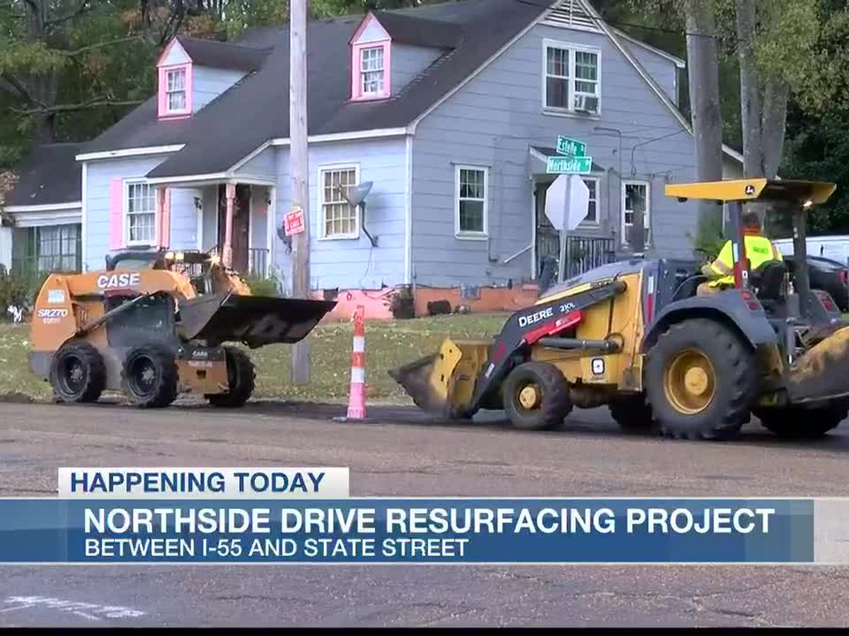 Asphalt work closes parts of Northside Drive in Jackson