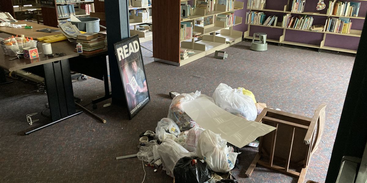 Resident says homeless still living at Charles Tisdale Library, weeks after it was boarded up
