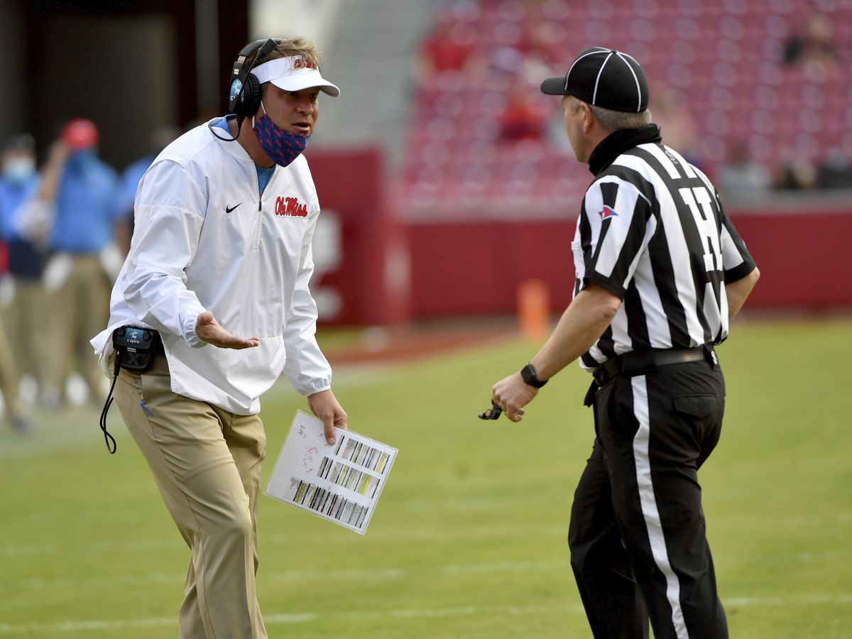 SEC fines Lane Kiffin over officiating complaints