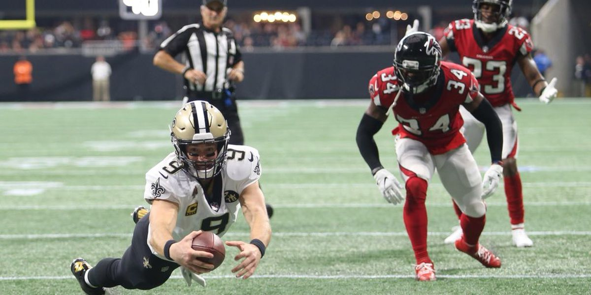 Brees breaks a passing record, Saints beat Falcons in OT thriller