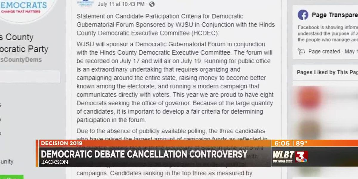 Candidates angered by cancellation of Democratic gubernatorial forum