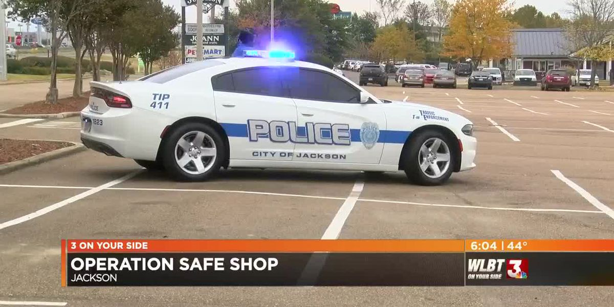 Shoppers happy to see JPD's flashing blue lights during Operation Safe Shop