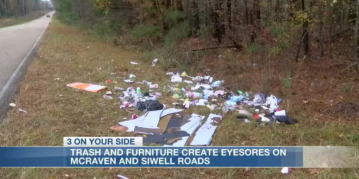 Trash and discarded furniture along roadways create eyesores for west Jackson residents
