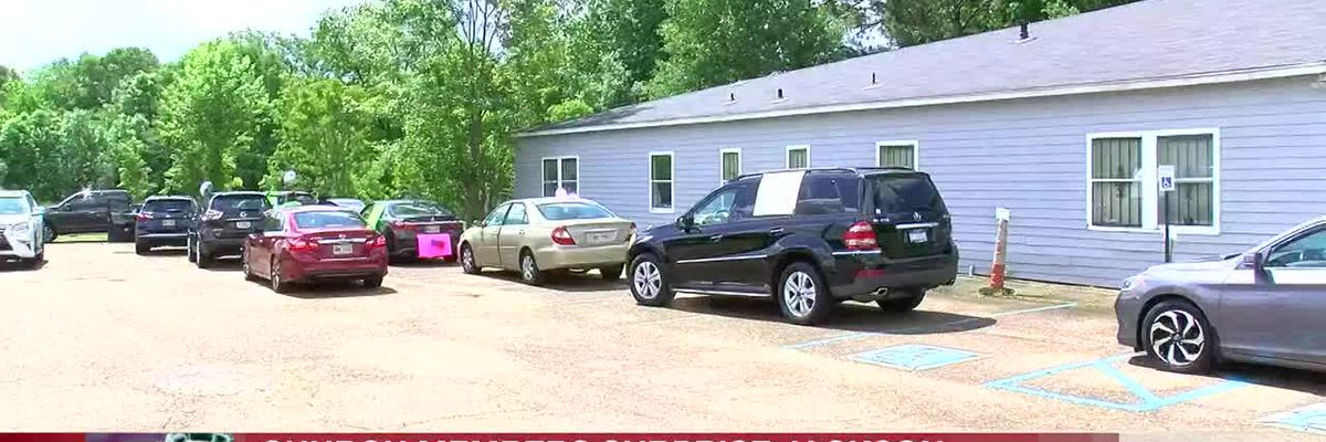 Church members surprise Jackson pastor with parade