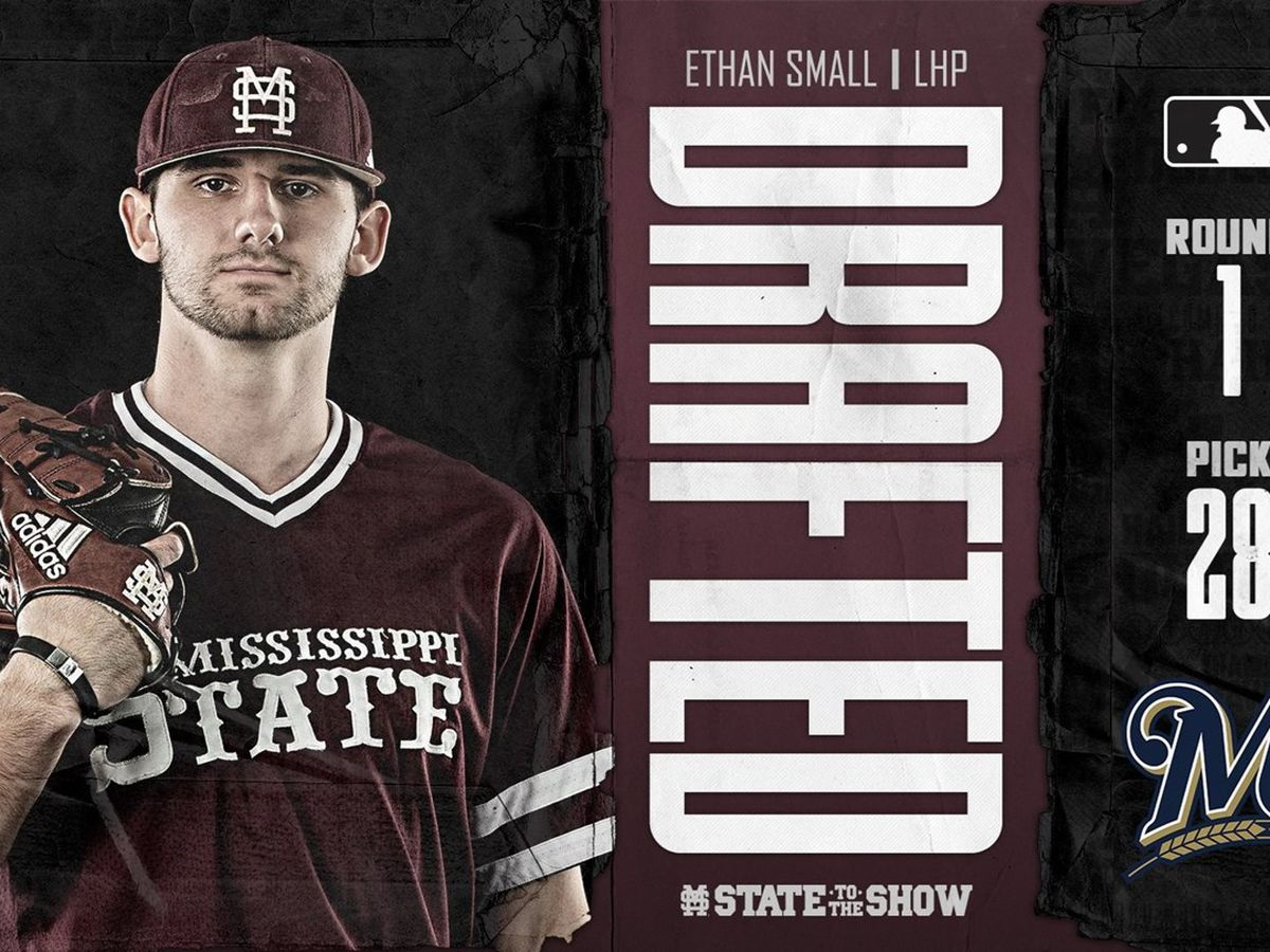 Milwaukee Brewers select Mississippi State pitcher Ethan Small 28th Overall