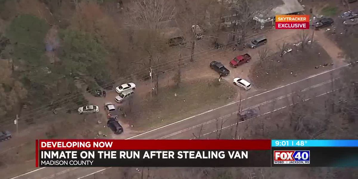 VIDEO: Madison County inmate still on the run after stealing prison van