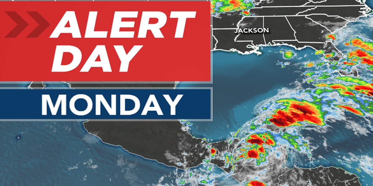 ALERT DAY ISSUED for Monday ahead of expected Cristobal impacts