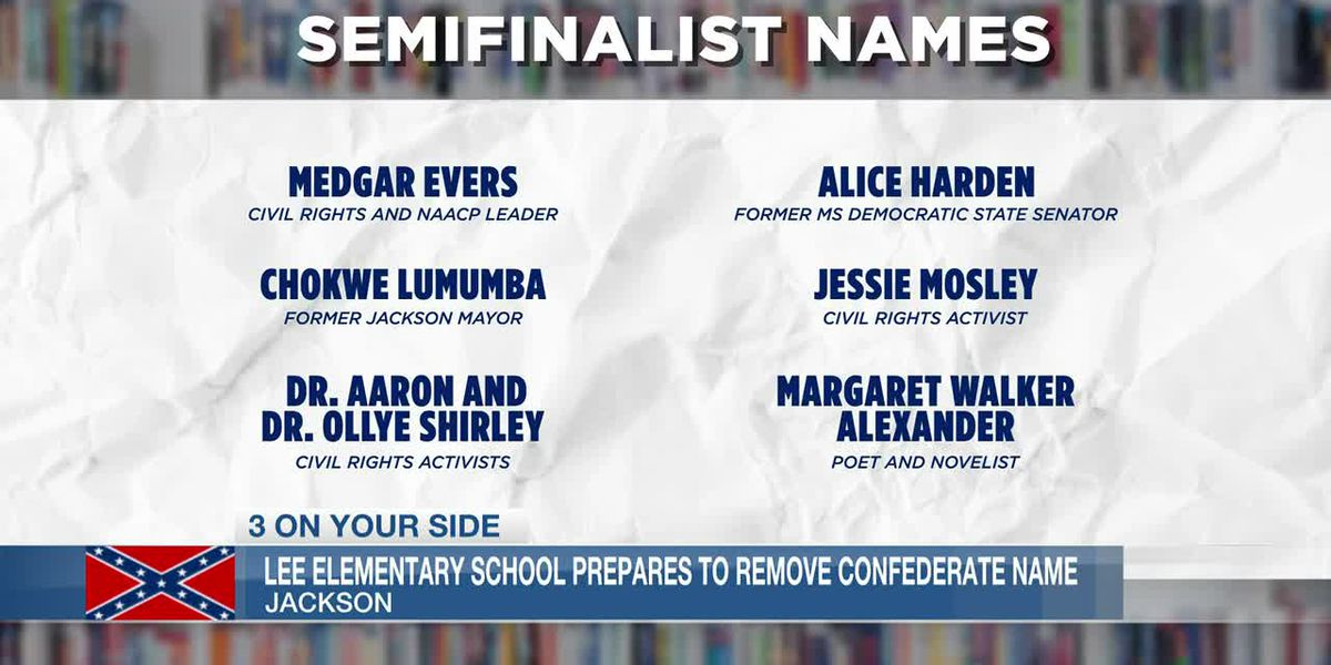 Robert E. Lee elementary school to narrow new name choices to 3 finalists