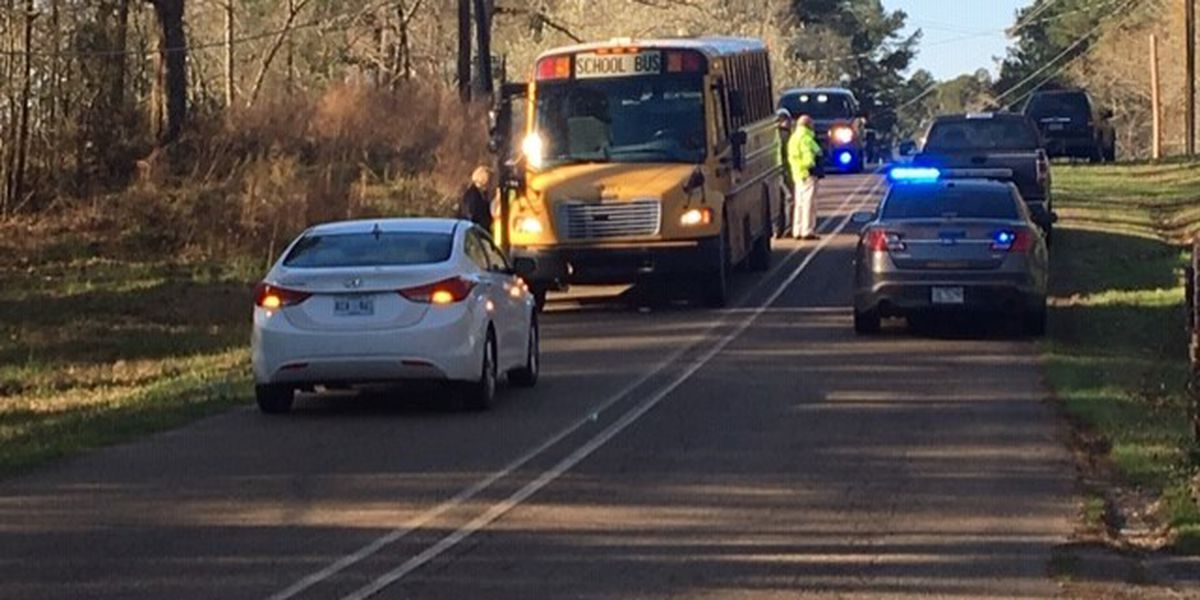 School bus involved in crash on Springwood Dr. near Byram