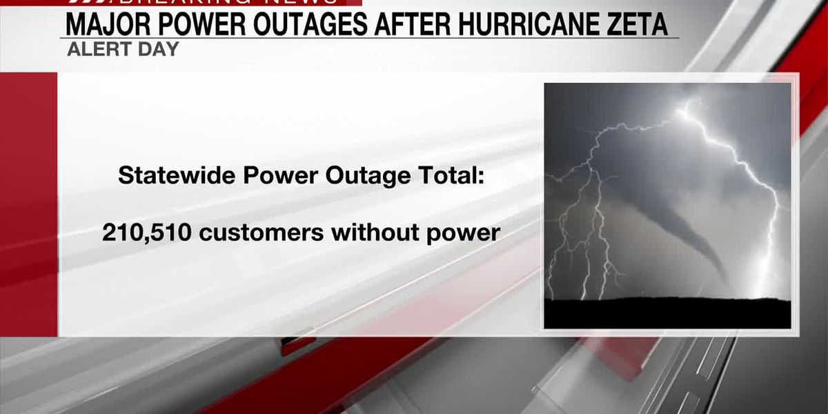 Major power outages after Hurricane Zeta