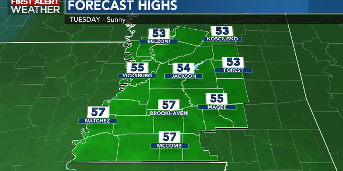 First Alert Forecast: cold start, chilly finish Tuesday