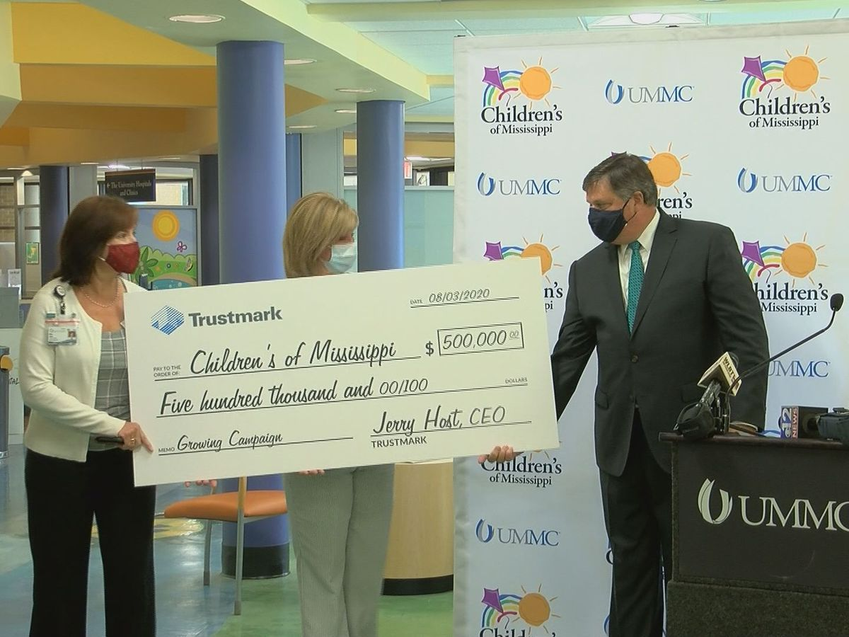 Trustmark donates $500,000 to Children's of Mississippi