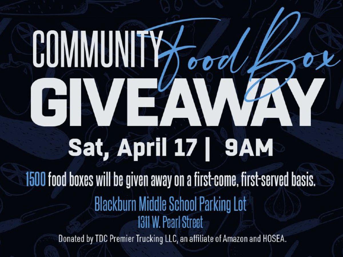 Jackson State University, partners host 1,500 food box giveaway