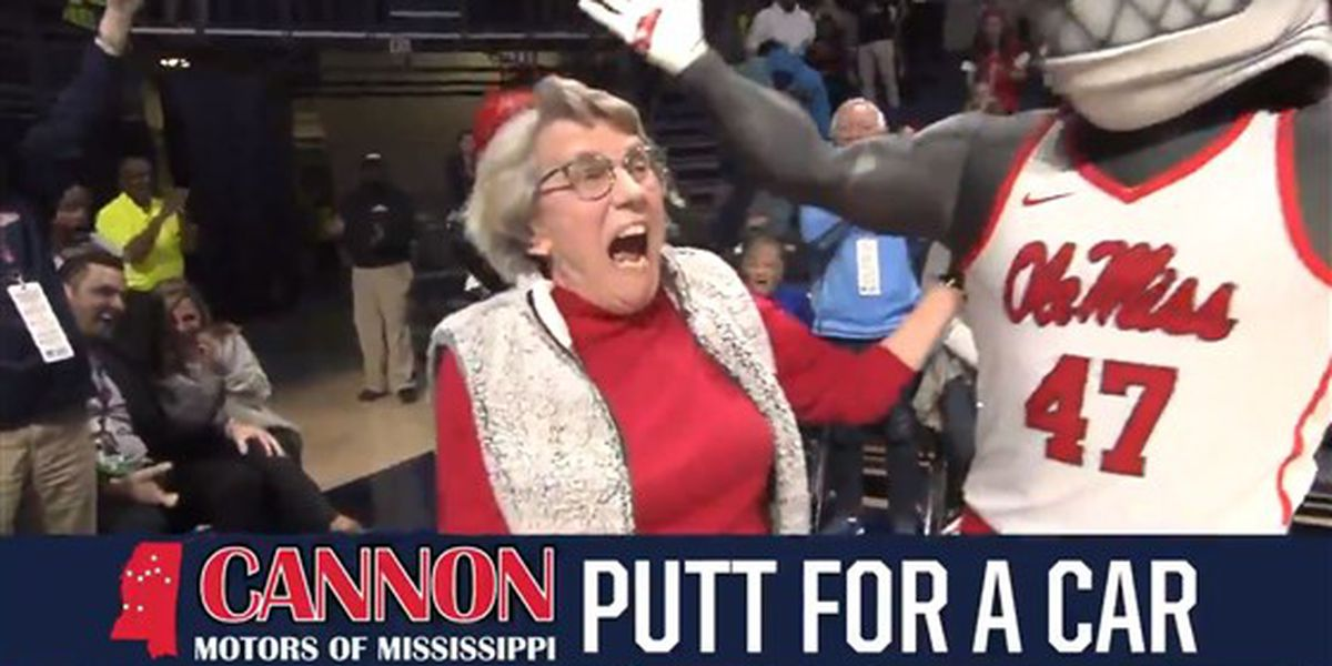 WATCH: 84-year-old Ole Miss fan wins new car with insane golf putt