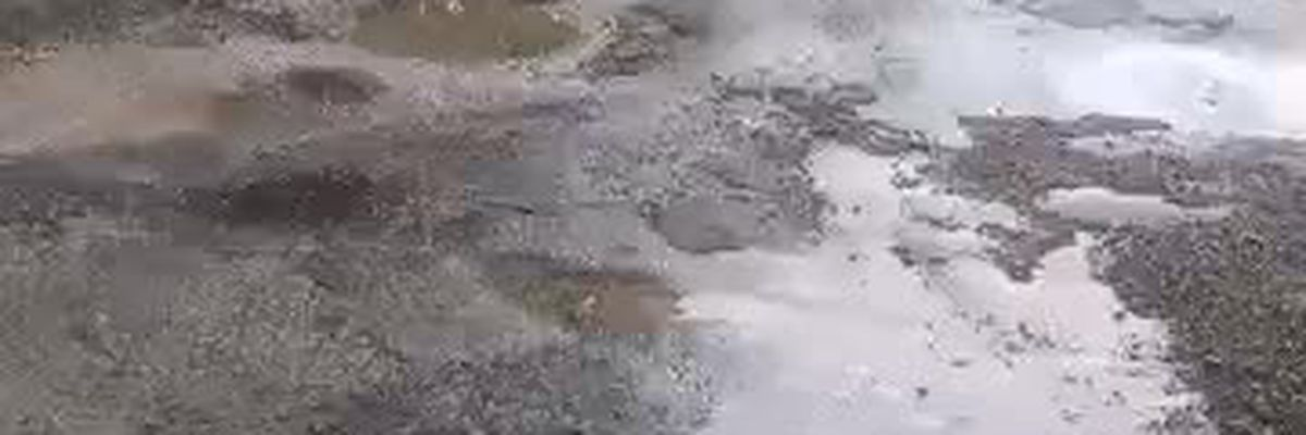 Video of road washed out