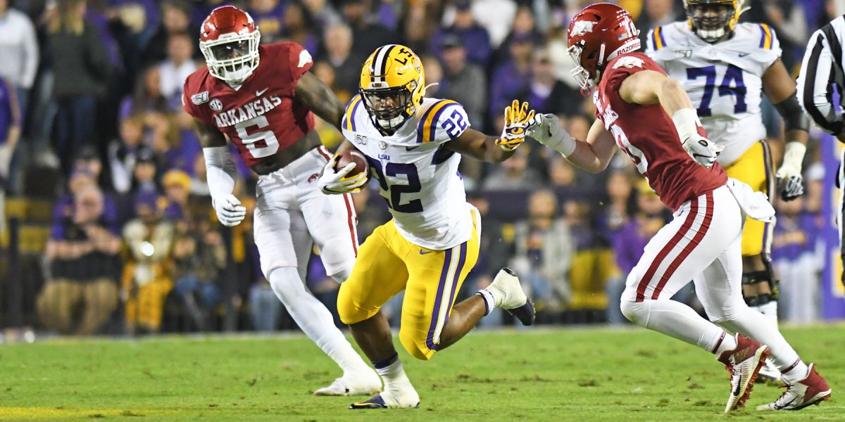 SEC WEST CHAMPS: No. 1 LSU routs Arkansas to win Battle for the Golden Boot