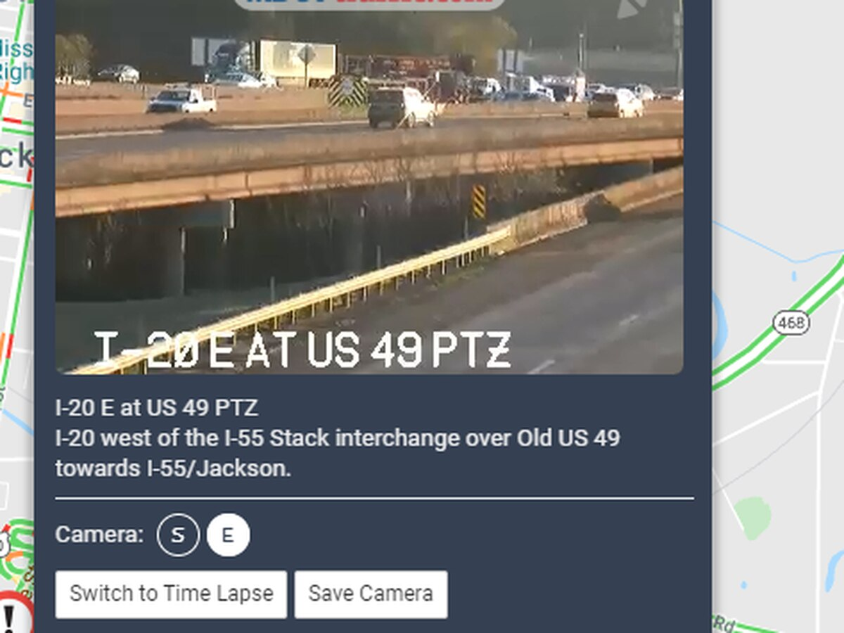 Left lane blocked on I-20 W at the Stack due to crash