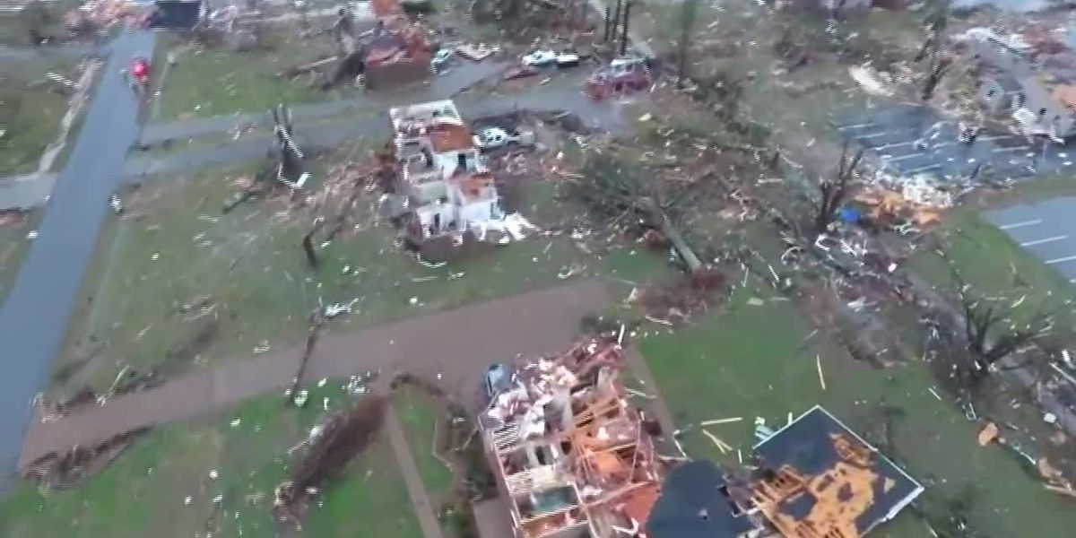 AERIAL VIDEO: Drone captures damage above Mount Juliet after deadly tornadoes