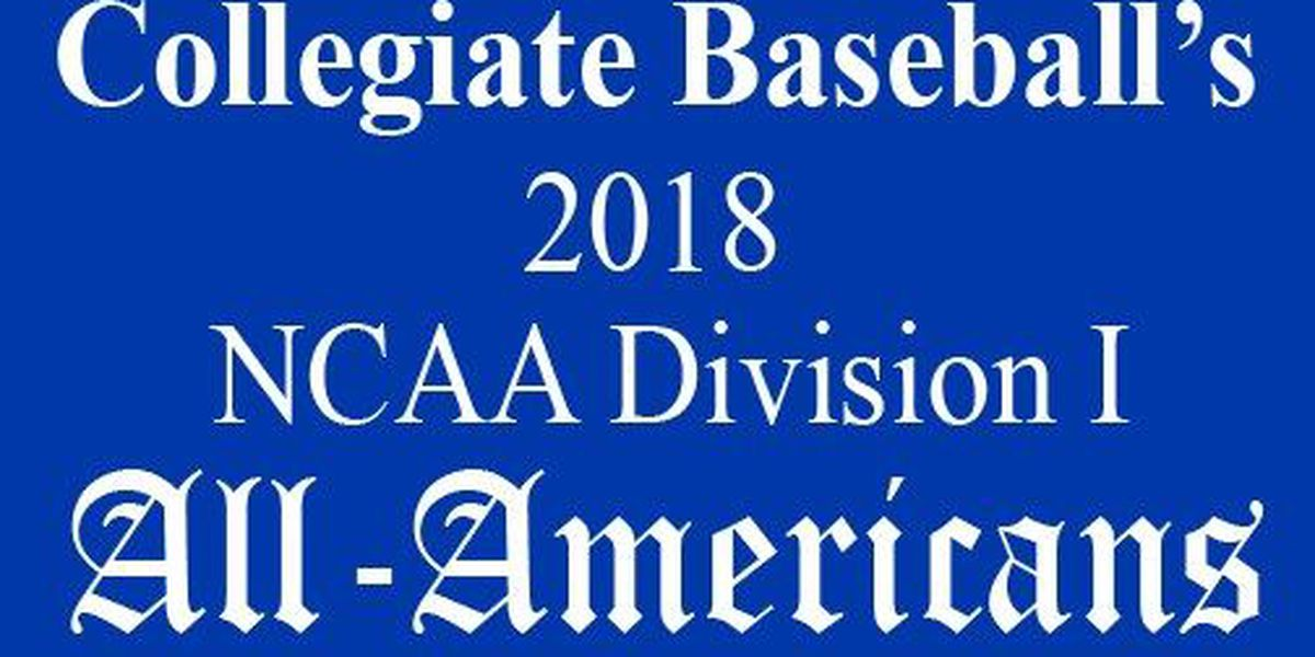 Allen, Fowler, Galatas & Montenegro on Collegiate Baseball Freshmen All-American team