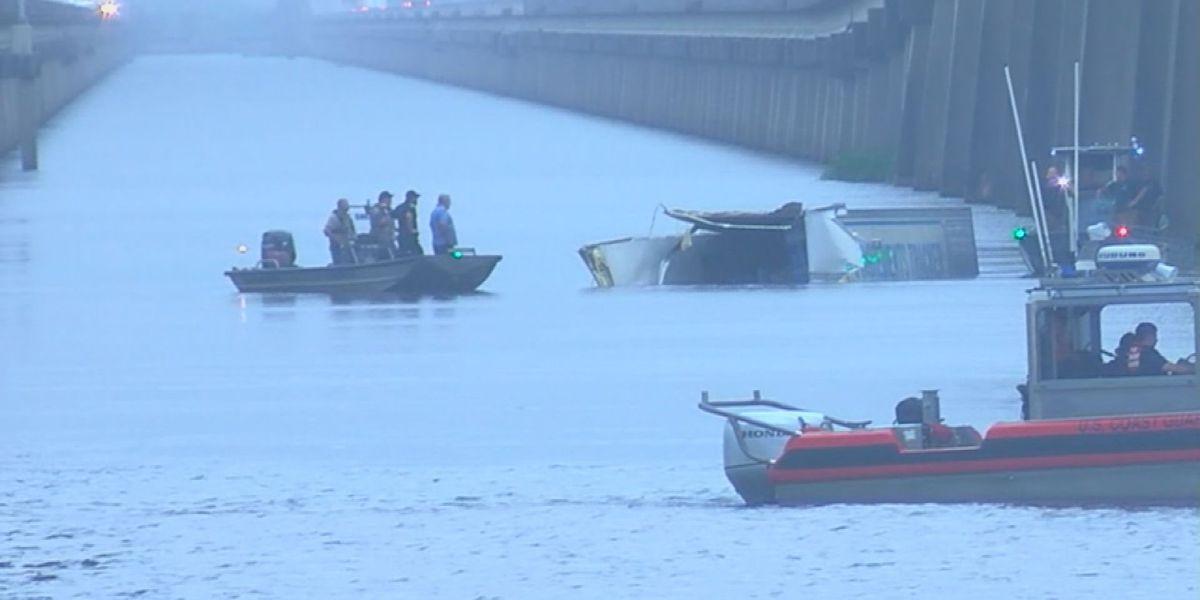 UPDATE: Truck driver identified after 18-wheeler went over side of I-10 bridge