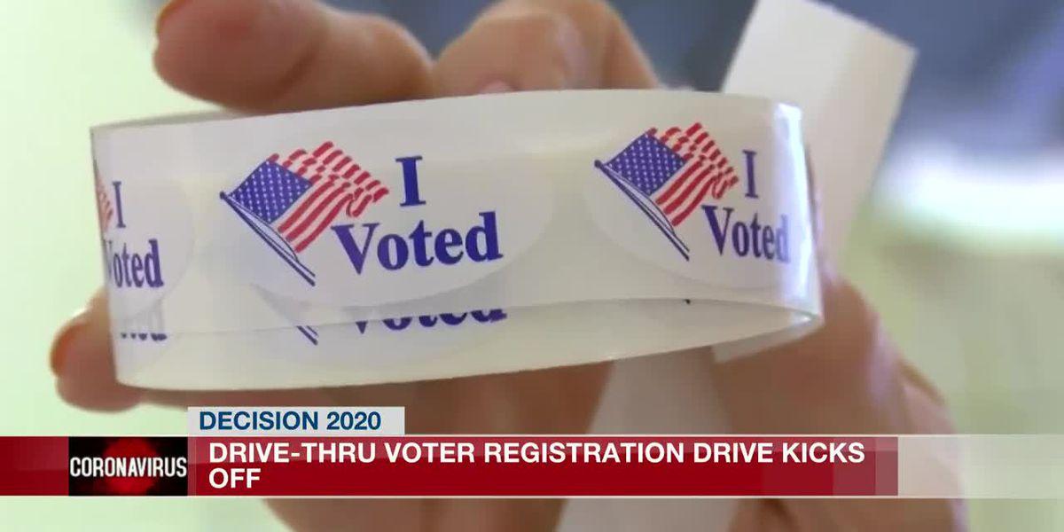 Drive-thru voter registration kicks off in Jackson