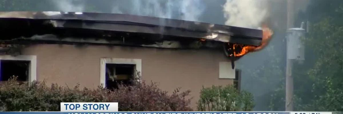 Holly Springs church fire investigated as arson