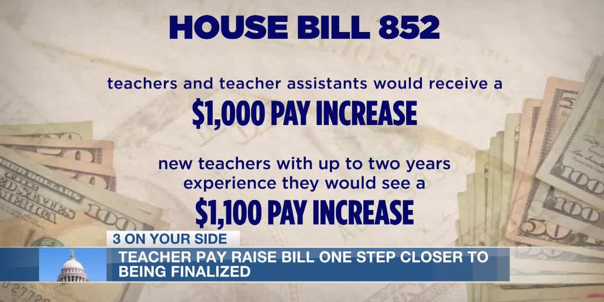 Bill that would give Miss. educators pay raise one step closer to becoming law