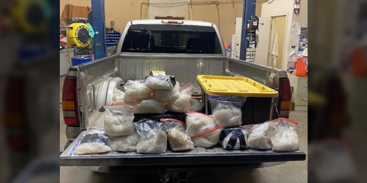 37 pounds of meth found hidden inside spare tire during traffic stop in Scott Co.