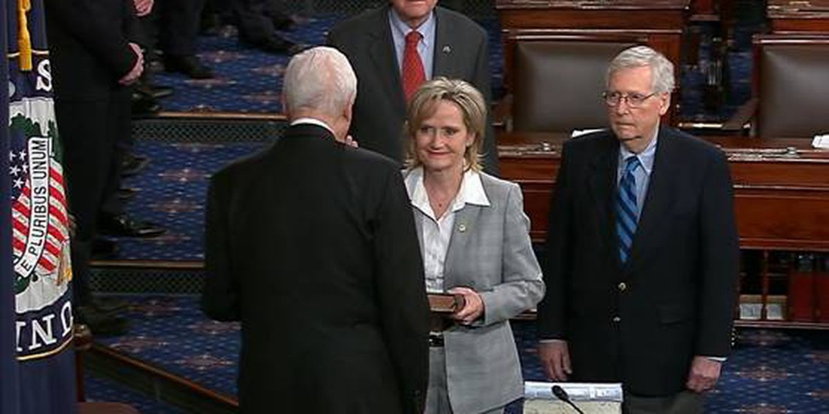 Senator Cindy Hyde-Smith sworn in as first woman elected to represent Mississippi