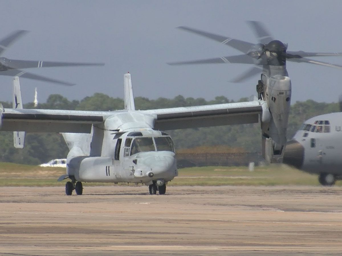 Marines bring Osprey aircraft to Keesler Air Force Base for training