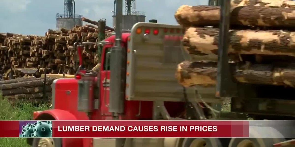 Lumber demand causes rise in prices amid coronavirus pandemic