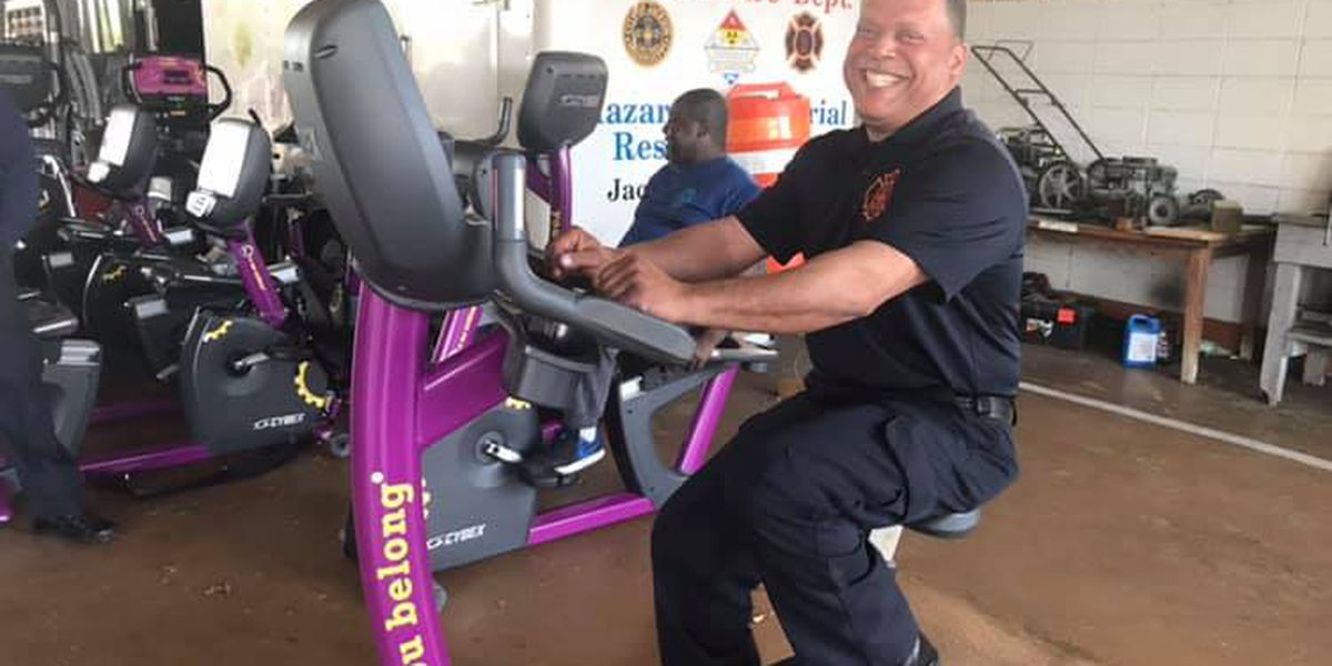 Planet Fitness donates exercise equipment to the Jackson Fire Department