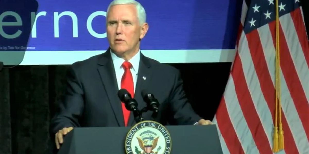 WATCH: Vice President Mike Pence speaks at campaign rally for Tate Reeves