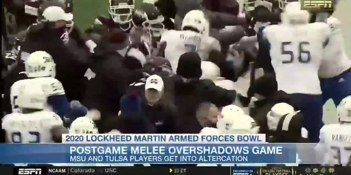 Postgame brawl overshadows Armed Forces Bowl, league reviewing melee