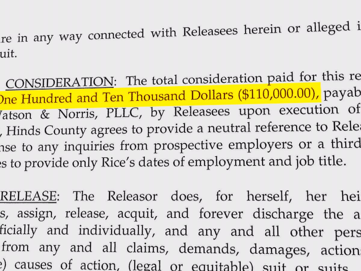 EXCLUSIVE: Documents reveal sexual harassment settlement against Hinds County tax collector will cost $110K