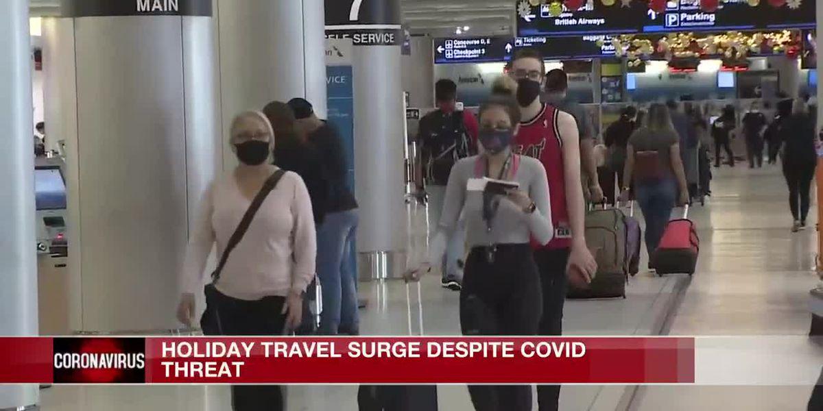 Holiday travel surges despite COVID-19 threat