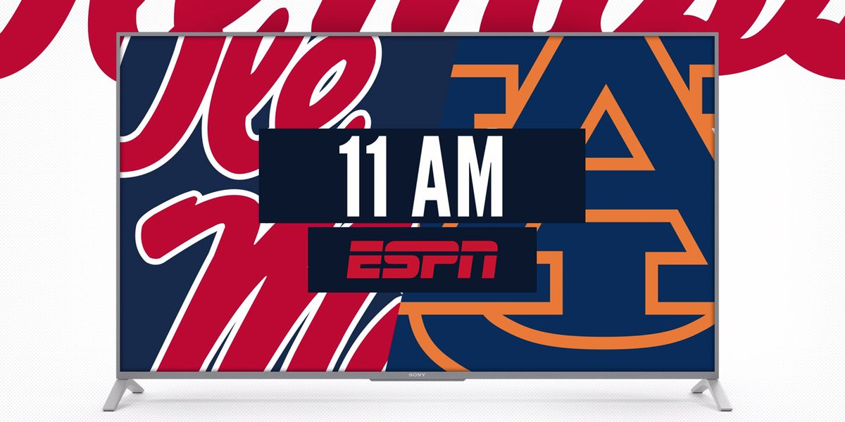 Kickoff time set for Ole Miss, Auburn Game