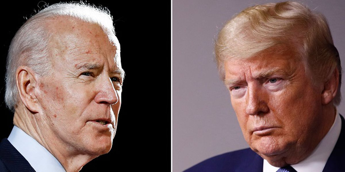 Trump, Biden go at it -- from a distance -- in town halls