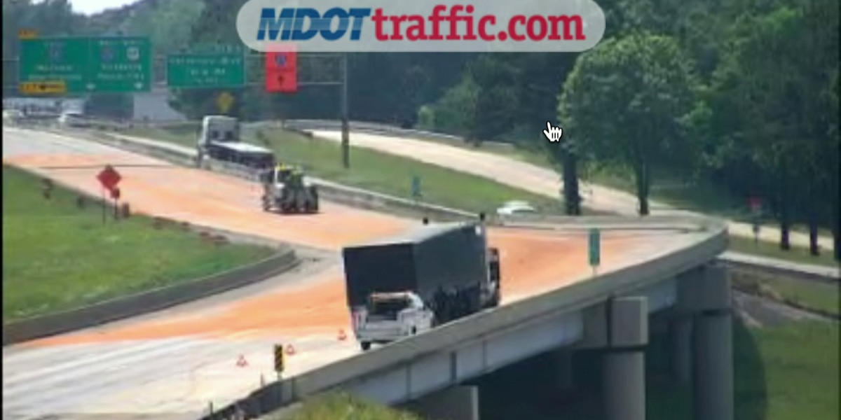 Diesel spill blocks I-20 for nearly hour