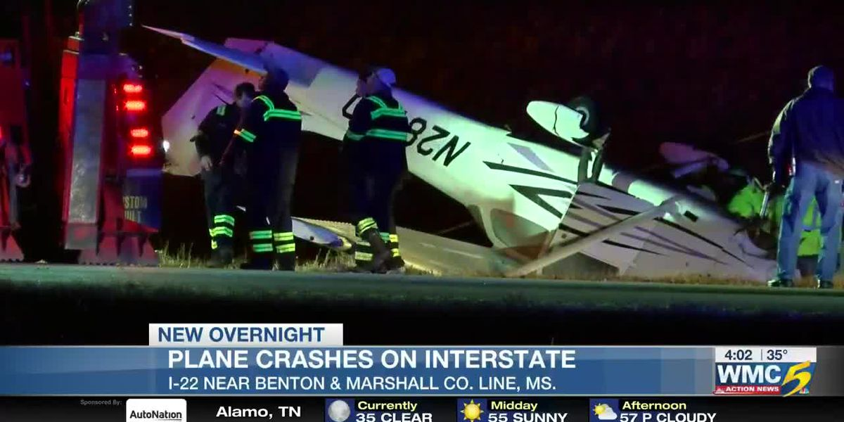 Authorities investigating plane crash on I-22 in Mississippi