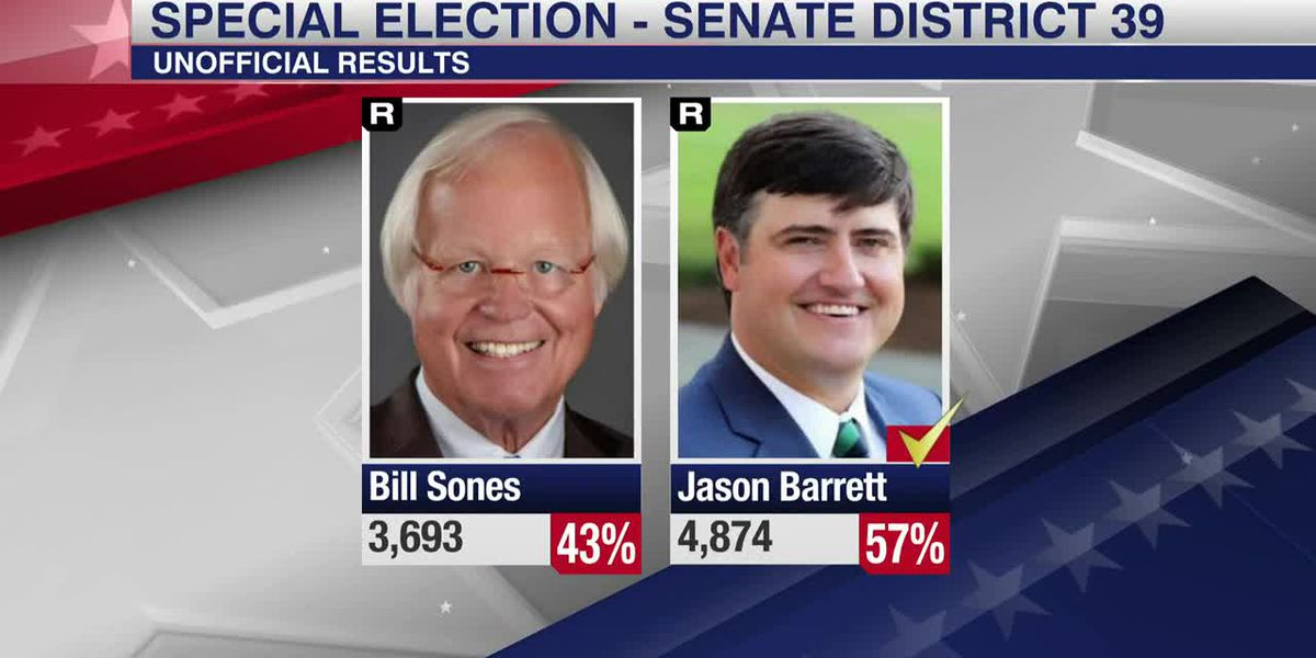 Special Election Runoff results for Miss. Senate District 39